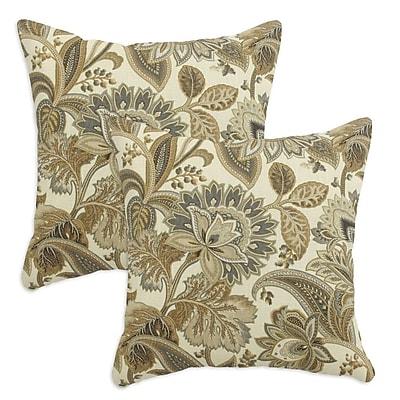 Brite Ideas Living Valdosta Driftwood Throw Pillow (Set of 2)
