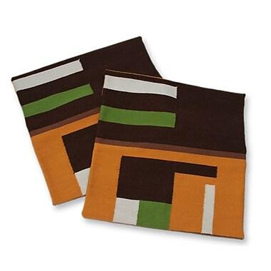 Novica Geometric Alpaca Throw Pillow Cover (Set of 2)
