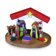 Novica 8 Piece Pinewood Nativity Scene Set
