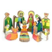 Novica 11 Piece Pinewood Nativity Scene Set