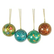 Novica Syed Izaz Hussein Cheerfulness Papier Mache Ornament (Set of 4)