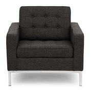 Kardiel Modern Arm Chair; Charcoal