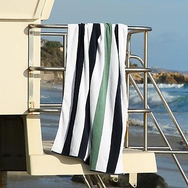 Laguna Beach Towel Company Plush Cabana Beach Towel; Midnight Blue / Sea Foam