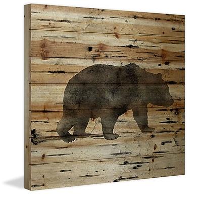 Marmont Hill 'Bear Birch Bark' by Amanda Greenwood Painting Print on Natural Pine Wood
