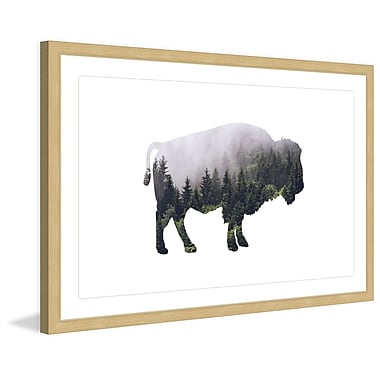 Marmont Hill 'Bison Forest' by Amanda Greenwood Framed Painting Print; 24'' H x 36'' W x 1.5'' D