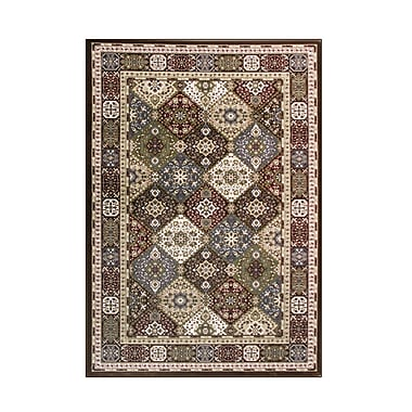 Art Carpet Kensington Brown Area Rug; Oval 5' x 8'