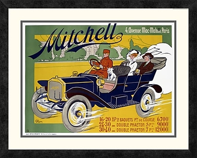 Global Gallery 'Mitchell' by G. Riom Framed Vintage Advertisement; 22.39'' H x 28'' W x 1.5'' D