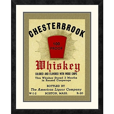 Global Gallery 'Chesterbrook Whiskey' Framed Vintage Advertisement; 28'' H x 22.5'' W x 1.5'' D