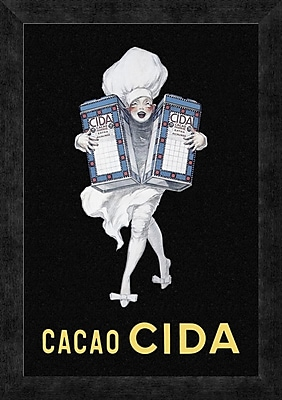 Global Gallery 'Cooks: Cacao Cida' Framed Vintage Advertisement; 20'' H x 14'' W x 1.5'' D