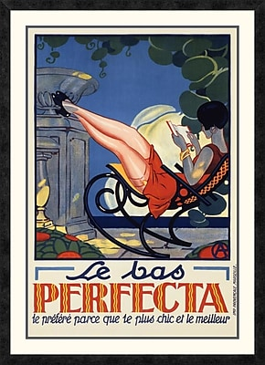 Global Gallery 'Le Bas Perfecta' Framed Vintage Advertisement; 42'' H x 30.35'' W x 1.5'' D