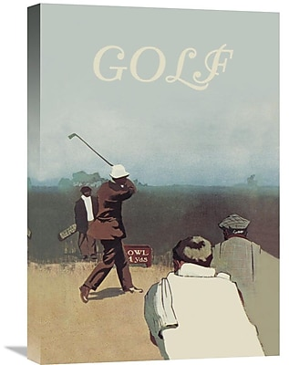 Global Gallery 'Long Drive, 1911' Vintage Advertisement on Wrapped Canvas; 24'' H x 16'' W x 1.5'' D