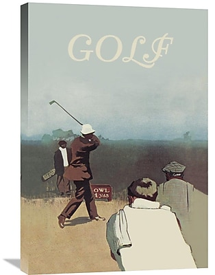 Global Gallery 'Long Drive, 1911' Vintage Advertisement on Wrapped Canvas; 30'' H x 20'' W x 1.5'' D