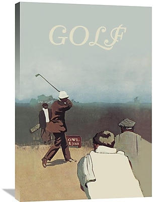 Global Gallery 'Long Drive, 1911' Vintage Advertisement on Wrapped Canvas; 36'' H x 24'' W x 1.5'' D