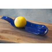 Bottles & Wood Wine Bottle Nut & Olive Dish; Cobalt