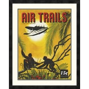 Global Gallery 'Seaplane Over the Tropics' Framed Vintage Advertisement; 30'' H x 24'' W x 1.5'' D