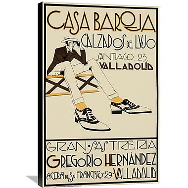 Global Gallery 'Casa Baroja' Vintage Advertisement on Wrapped Canvas; 36'' H x 23.6'' W x 1.5'' D