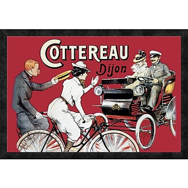Global Gallery 'Cottereau Dijon' Framed Vintage Advertisement; 22'' H x 32'' W x 1.5'' D