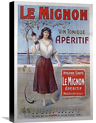 Global Gallery 'Le Mignon' Vintage Advertisement on Wrapped Canvas; 22'' H x 14.8'' W x 1.5'' D
