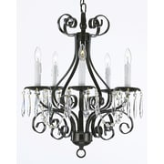 EverythingHome 5-Light Candle-Style Chandelier; Black