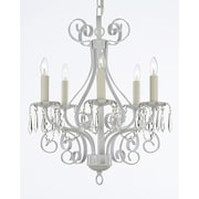 EverythingHome 5-Light Candle-Style Chandelier; White