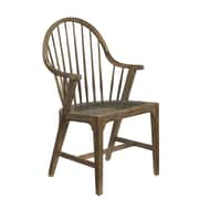 French Heritage Pyrenees Arm Chair; Brown Timberwood