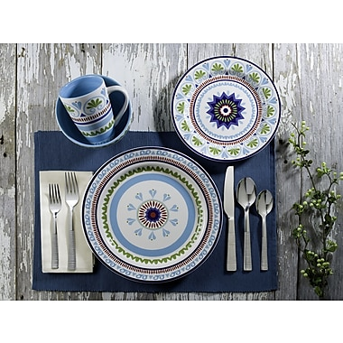 Euro Ceramica Marrakesh 16 Piece Dinnerware Set, Service for 4