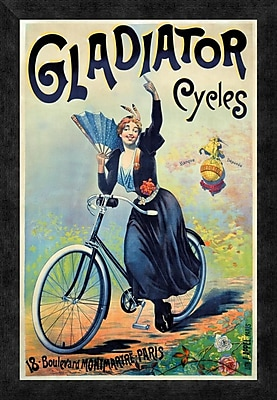 Global Gallery 'Gladiator Cycles' Framed Vintage Advertisement; 24'' H x 16.48'' W x 1.5'' D