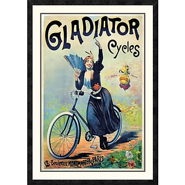 Global Gallery 'Gladiator Cycles' Framed Vintage Advertisement; 42'' H x 29.69'' W x 1.5'' D