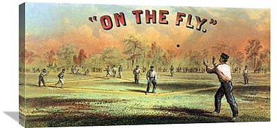 Global Gallery 'On the fly' Vintage Advertisement on Wrapped Canvas; 18'' H x 36'' W x 1.5'' D