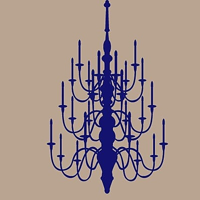 SweetumsWallDecals Chandelier Wall Decal; Navy