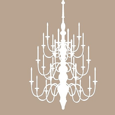 SweetumsWallDecals Chandelier Wall Decal; White