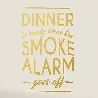 SweetumsWallDecals When The Smoke Alarm Goes Off Wall Decal; Gold