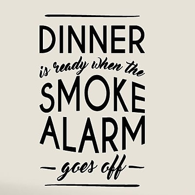 SweetumsWallDecals When The Smoke Alarm Goes Off Wall Decal; Black