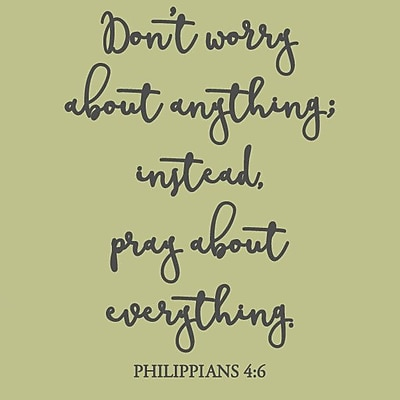 SweetumsWallDecals Don't Worry About Anything Wall Decal; Dark Gray