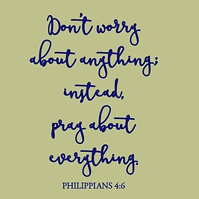 SweetumsWallDecals Don't Worry About Anything Wall Decal; Navy