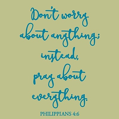 SweetumsWallDecals Don't Worry About Anything Wall Decal; Teal
