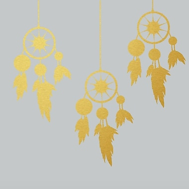 SweetumsWallDecals Dream Catchers Wall Decal; Gold
