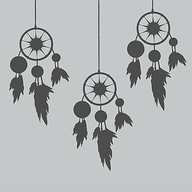 SweetumsWallDecals Dream Catchers Wall Decal; Dark Gray