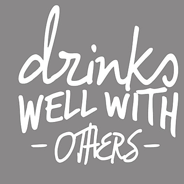 SweetumsWallDecals Drinks Well w/ Others Wall Decal; White