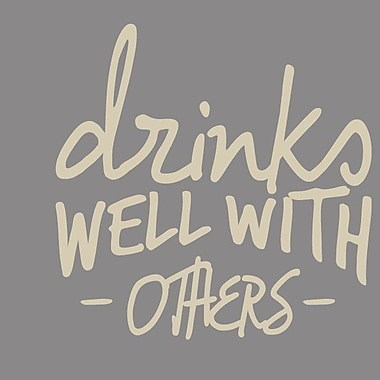 SweetumsWallDecals Drinks Well w/ Others Wall Decal; Beige