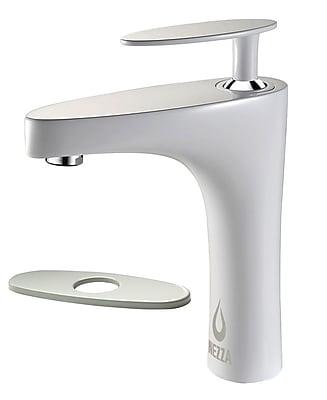 Nezza Cobra Bathroom Faucet w/ Deck Plate; White