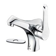 Nezza Falcon Single Handle Bathroom Faucet w/ Deck Plate; Chrome