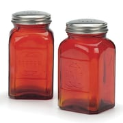 RSVP-INTL Retro Salt and Pepper Shaker (Set of 2); Red