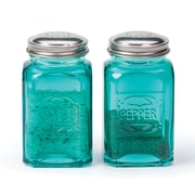 RSVP-INTL Retro Salt and Pepper Shaker (Set of 2); Turquoise