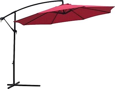 American Phoenix 3.66m x 3.5m Rectangular Cantilever Umbrella; Red