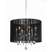 JoJoSpring 6-Light Drum Chandelier; Black