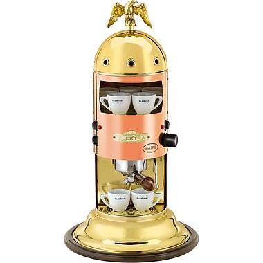 Elektra Mini Verticale Espresso Machine; Copper and Brass
