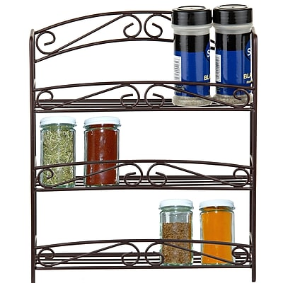Sweet Home Collection Classic Scroll Spice Rack