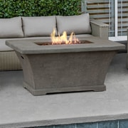 Real Flame Monaco Rectangle Propane Fire Pit Table; Glacier Gray