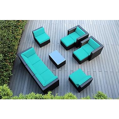 Ohana Depot Ohana 10 Piece Deep Seating Group w/ Cushions; Sunbrella Aruba